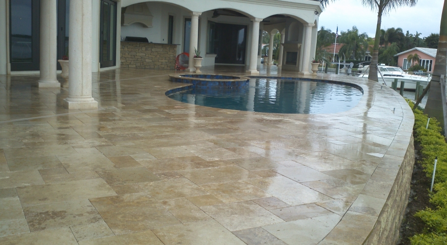 Travertine Sealing Photo Gallery